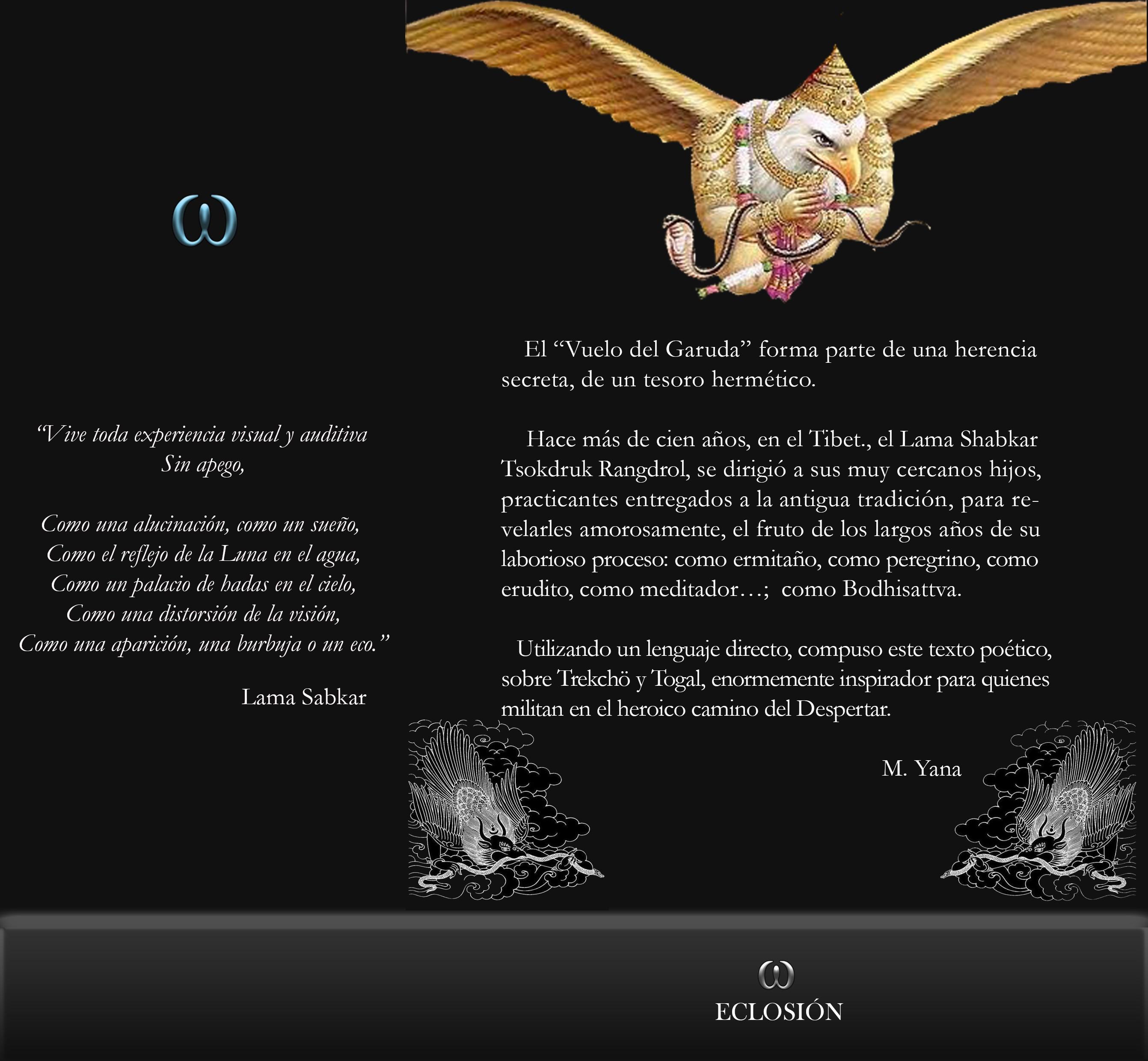 el vuelo del Garuda contraportada - El Vuelo del Garuda