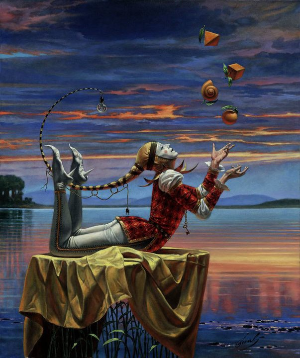 13 surreal paintings by michael cheval - La Libertad