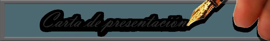 Carta - Carta de presentación