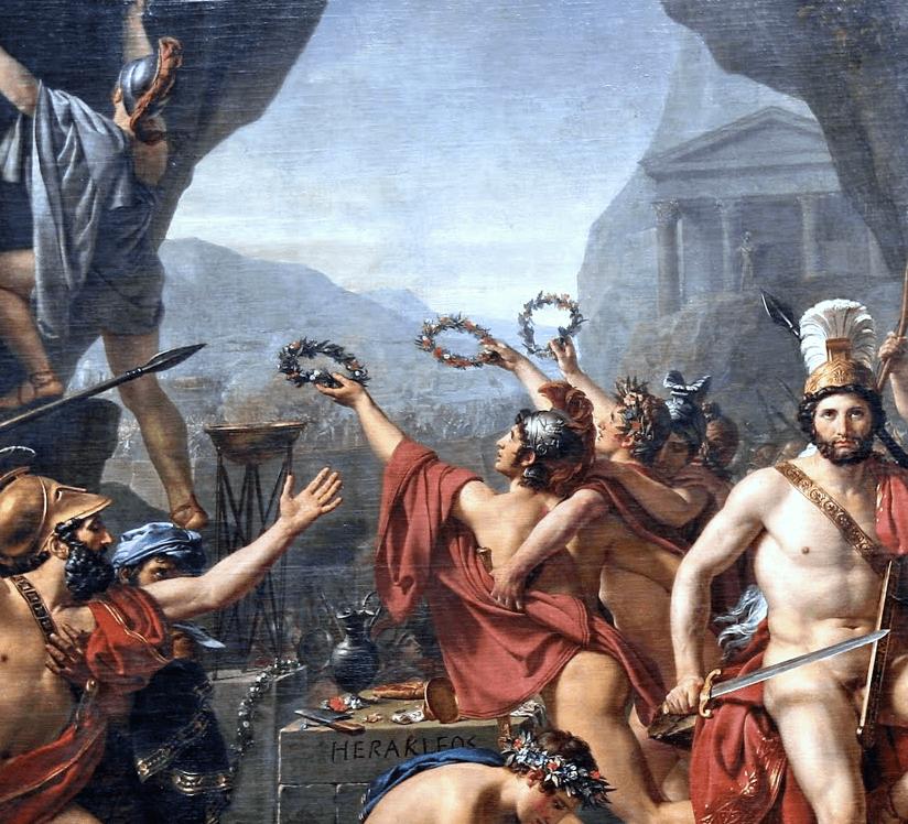 Léonidas aux Thermopyles Jacques Louis David e1561822162787 - La Conquista de la Historia